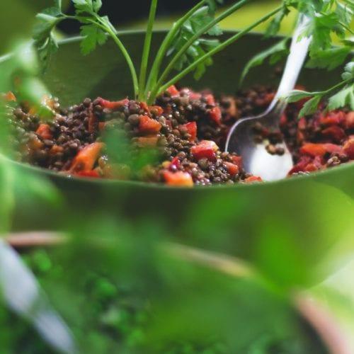Salade de lentilles Vegan